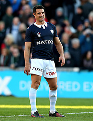 Dan Carter of Racing 92 warms up - Mandatory by-line: Robbie Stephenson/JMP - 23/10/2016 - RUGBY - Welford Road Stadium - Leicester, England - Leicester Tigers v Racing 92 - European Champions Cup
