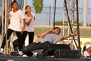 10th July 2009 - Gary, IN..Actor, Singer and Songwriter, Chester Gregory II performed.  He is known for his Broadway debut of Hairspray among other accomplishments...More than 6,000 people attended Michael Jackson's memorial service in his hometown took place at the Steel yard, Gary's minor league baseball park...Photo Credit: Heather A. Lindquist/SIPA...