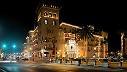 St. Augustine, Florida, Nights of Lights, 2017.   Casa Monica Resort & Spa,