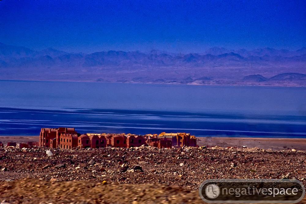 Buildings along the Red Sea, Dahab, Egypt