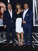 SYLVESTER STALLONE + brother FRANK + JENNIFER FLAVIN at the premiere of 'Creed' held at the Regency Village theatre.<br /> ©Exclusivepix Media
