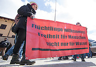 A demonstration against cross assurance measures at the border from Italy to Austria in Gries am Brenner, Austria.<br /> Picture by EXPA Pictures/Focus Images Ltd 07814482222<br /> 24/04/2016