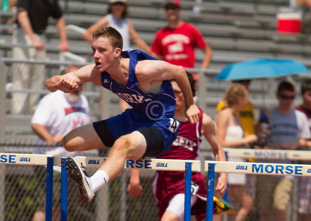 Boys 110 Hurdles; Tom Reid, York, Maine State Track & Field Meet - Class B
