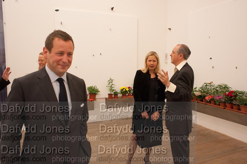 ED VAIZEY; IWONA BLAZWICK; ADRIAN DANNATT, Damien Hirst, Tate Modern: dinner. 2 April 2012.