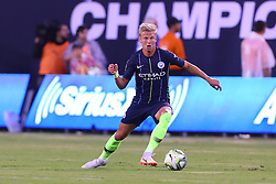 July 25, 2018 - East Rutherford, NJ, U.S. - EAST RUTHERFORD, NJ - JULY 25:  Manchester City midfielder Oleksandr Zinchenko (35) during the first half of the International Champions Cup Soccer game between Liverpool and Manchester City on July 25, 2018 at Met Life Stadium in East Rutherford, NJ.  (Photo by Rich Graessle/Icon Sportswire) (Credit Image: © Rich Graessle/Icon SMI via ZUMA Press)