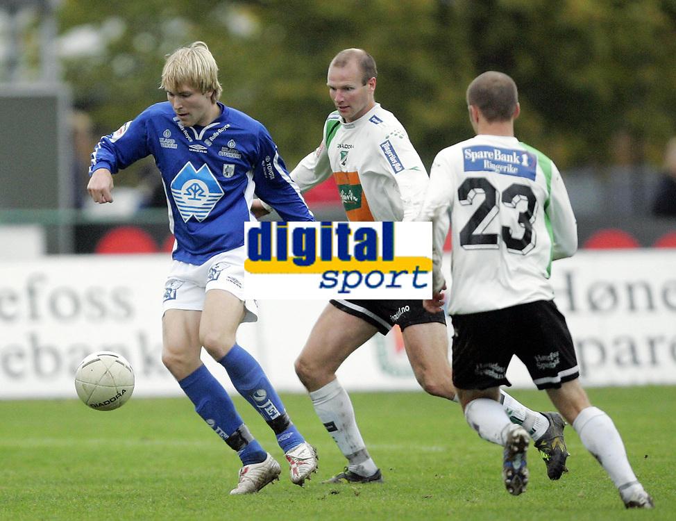 Fotball<br /> Adeccoligaen<br /> 22.10.2006<br /> H&oslash;nefoss v H&oslash;dd 3-0<br /> Foto: Morten Olsen, Digitalsport<br /> <br /> Christer Ellefsen - H&oslash;nefoss<br /> Joachim Magnussen - H&oslash;dd
