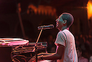 Jon Batiste and Stay Human Presented in Collaboration with Jazz at Lincoln Center in the Spanish Courtyard at Caramoor in Katonah New York on July 24, 2015. <br /> (photo by Gabe Palacio)