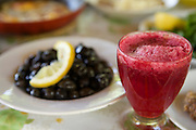 Fresh juice on the table at morning breakfast, Turkey.