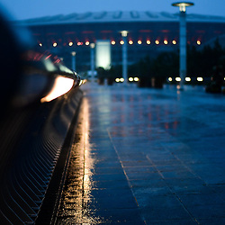 At the time when the cancelled France v England match would have been playing, the whole area around the International Stadium Yokohama is deserted as Typhoon Hagibis approaches on October 12, 2019 in Yokohama, Japan. (Photo by Dave Winter/Icon Sport) - --- - International Stadium Yokohama - Yokohama (Japon)