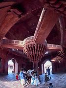 India, Uttar Pradesh. Fatehpur Sikri. Diwan-i-Khas.