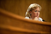 May 17,2010 - Washington, District of Columbia USA - Senator Mary Landrieu asks quesitons to Secretary of Homeland Security, Janet Napoitano and Rear Admiral Peter Neffenger about the response to the Deepwater Horizon Oil spill during a hearing before the Committee on Homeland Security and Government Affairs.(Credit Image: © Pete Marovich/ZUMA Press)