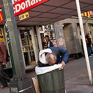 New York. mac donald restaurant on 6th av  in Times square area.   New york - United states  Manhattan  /    Mac donald restaurant sur la 6 em av, Times square scenes de rue,   New york - Etats unis