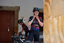 Tiffany Cromwell (AUS) straps in for Emakumeen Bira 2018 - Stage 1, a 108 km road race starting and finishing in Legazpi, Spain on May 19, 2018. Photo by Sean Robinson/Velofocus.com