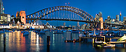 Panorama of Sydney Harbour, showing (from L to R), Luna Park, The Sydney Harbour Bridge, The Opera House and the CBD. Viewed from Lavender Bay