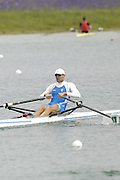 Munich, GERMANY, 2006, FISA, Rowing, World Cup, ITA M1X Alessio Sartori,  held on the Olympic Regatta Course, Munich, Thurs. 25.05.2006. © Peter Spurrier/Intersport-images.com,  / Mobile +44 [0] 7973 819 551 / email images@intersport-images.com.[Mandatory Credit, Peter Spurier/ Intersport Images] Rowing Course, Olympic Regatta Rowing Course, Munich, GERMANY