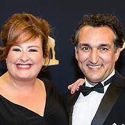 NLD/Utrecht/20160930 - inloop NFF 2016 L'OR Gouden Kalveren Gala, Eva van der Gucht en partner Domenico Mertens