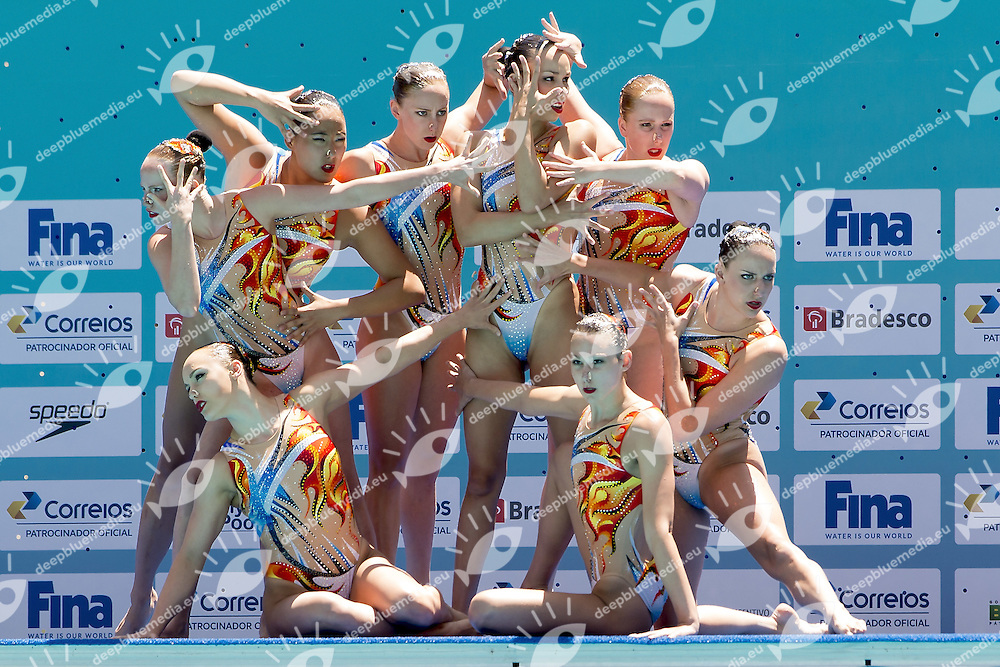 Canada CAN<br /> Team Free<br /> Synchronised Swimming Olympic Games Qualification Tournament<br /> Maria Lenk Aquatic Centre - Rio De Janeiro Brazil<br /> Day4  05 March 2016<br /> Photo G.Scala/Insidefoto/Deepbluemedia
