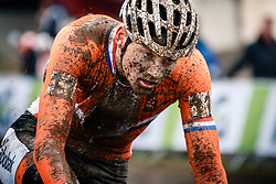 Mathieu VAN DER POEL of the Netherlands during the Men Elite race, UCI Cyclo-cross World Championship at Bieles, Luxembourg, 29 January 2017. Photo by Pim Nijland / PelotonPhotos.com | All photos usage must carry mandatory copyright credit (Peloton Photos | Pim Nijland)