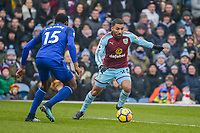 Football-2017/2018 Premier League - Burnley v  Everton <br /> <br /> Aaron Lennon of Burnley and Cuco Martina of Everton at Turf Moor.<br /> <br /> COLORSPORT