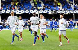 Chelsea players warm up - Mandatory byline: Matt McNulty/JMP - 07966386802 - 12/09/2015 - FOOTBALL - Goodison Park -Everton,England - Everton v Chelsea - Barclays Premier League