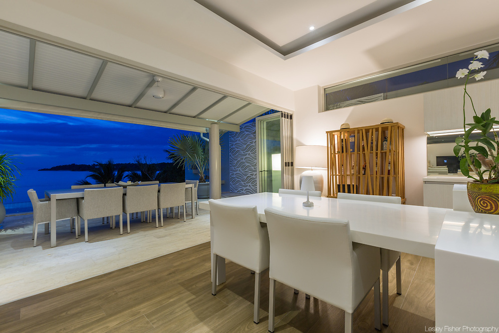Guest kitchen at Villa Som, a Luxury and private 4 bedroom villa with gym and ocean view located in Plai Laem, Koh Samui, Thailand