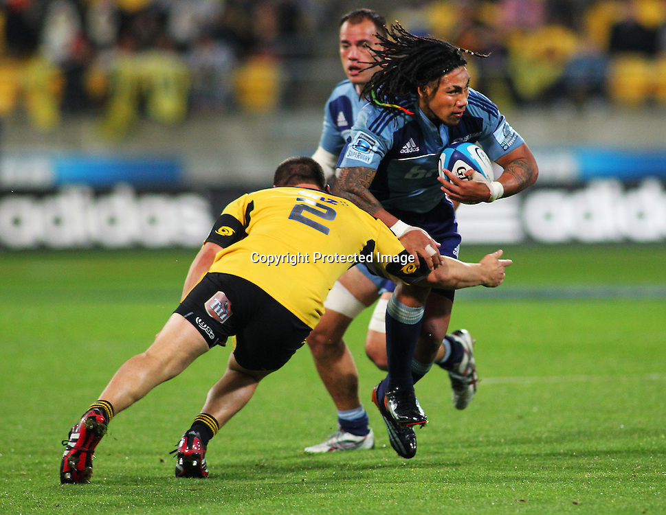 Ma'a Nonu with ball in hand during their Super Rugby match, Hurricanes v Blues, Westpac stadium, Wellington, New Zealand. Friday 4 May 2012.  PHOTO: Grant Down / photosport.co.nz