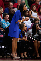 January 20, 2011; Stanford, CA, USA;  UCLA Bruins head coach Nikki Caldwell on the sidelines during the second half against the Stanford Cardinal at Maples Pavilion.  Stanford defeated UCLA 64-38.