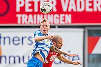 ZWOLLE - 18-09-2016, PEC Zwolle - AZ, MAC3park Stadion, PEC Zwolle speler Nicolai Brock-Madsen, AZ speler Ron Vlaar