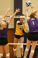 October 28, 2017 - Johnson City, Tennessee - Brooks Gym: ETSU outside hitter Kalee Vanderhorst (4)<br /> <br /> Image Credit: Dakota Hamilton/ETSU