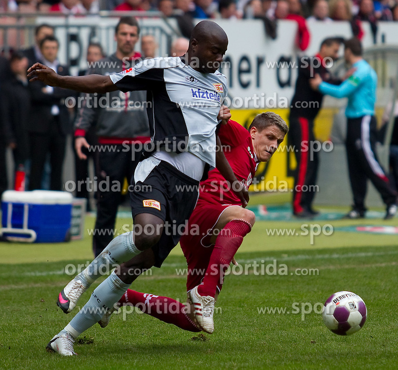 10.04.2010, Fritz Walter Stadion, Kaiserslautern, GER, 2. FBL, 1. FC Kaiserslautern vs FC Union Berlin, im Bild von links John Mosquera (Berlin), Ivo Ilicevic (FCK), EXPA Pictures © 2010, PhotoCredit: EXPA/ A. Neis / SPORTIDA PHOTO AGENCY