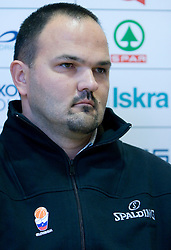 Marijan Kraljevic at press conference when announced that he is a new Slovenian director of Basketball National team, on November 25, 2008 in City Hotel, Ljubljana, Slovenia.  (Photo by Vid Ponikvar / Sportida)