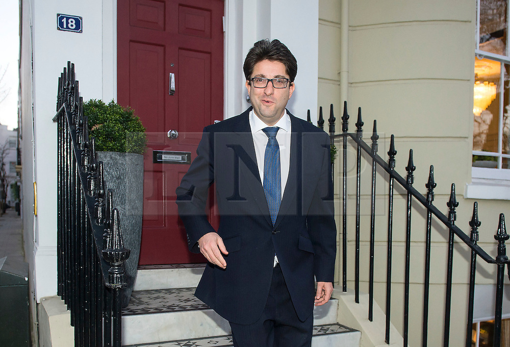 © Licensed to London News Pictures. 09/12/2015. London, UK. Conservative party co-chairman, LORD ANDREW FELDMAN leaving his home in west London on December 9, 2015. Tory chairman Lord Feldman has been accused of urging donors to give money to the campaign to stay in the EU.. Photo credit: Ben Cawthra/LNP