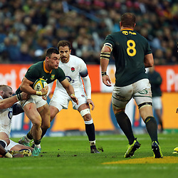 Joe Marler of England tackling Jesse Kriel of South Africa during the 2018 Castle Lager Incoming Series 3rd Test match between South Africa and England at Newlands Rugby Stadium,Cape Town,South Africa. 23,06,2018 Photo by (Steve Haag JMP)
