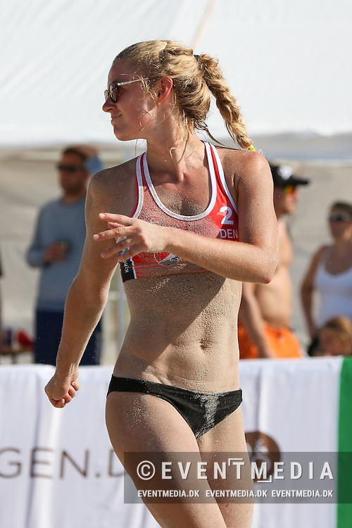 Beachvolley: 1. DM Semifinalestævne på Danish Beachvolley Tour 2016, 24.7.2016 på Hornbæk Strand, Danmark. (Allan Jensen/EVENTMEDIA).