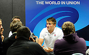 Toby Flood of England, during an England Press Conference at Southern Cross Hotel in Dunedin, New Zealand. IRB Rugby World Cup 2011. Monday 19 September 2011. New Zealand. Photo: Richard Hood/photosport.co.nz