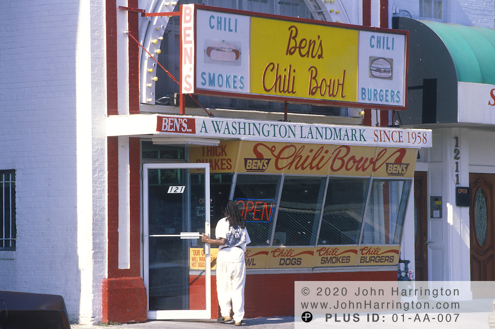 Historic Ben's Chili Bowl, along the U Street corridor.