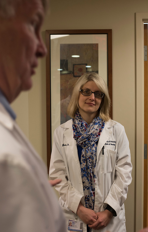 Research nurse Marci Nilsen at UPMC ENT Hospital in Oakland.