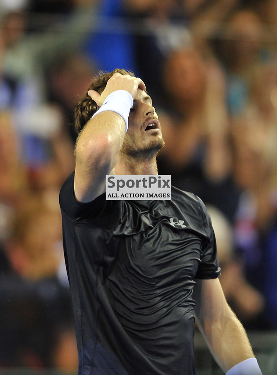 Andy Murray wins the 4th rubber between Great Britain v Australia, Semi Finals,  Aegeon Davis Cup by BNP Paribas, Sunday 20 September 2015 (c) Angie Isac | SportPix.org.uk