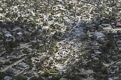 April 8, 2019 - Bebedo, Mozambique - An aerial view of the aftermath of the massive Cyclone Idai destroying huge swaths of the region April 8, 2019 near Bebedo, Mozambique. The World Food Programme, with help from the U.S. Air Force is transporting emergency relief supplies to assist the devastated region. (Credit Image: © Corban Lundborg via ZUMA Wire)