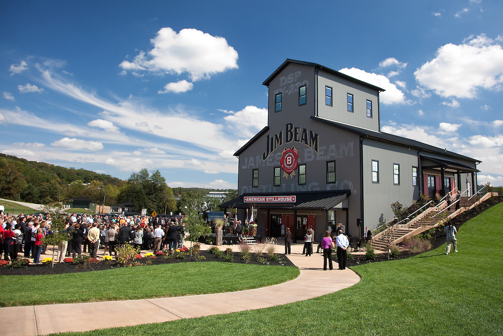 Jim Beam Distillery in Clermont, Ky., celebrated the opening of the Jim Beam American Stillhouse visitors' center Wednesday, October 03, 2012.