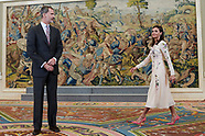 070819 Spanish Royals attends audiences at Zarzuela Palace
