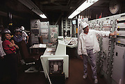 Control Center of the Titan Missile Museum, Green Valley, Arizona. When the SALT Treaty called for the de-activation of the 18 Titan missile silos that ring Tucson, volunteers at the Pima Air Museum asked if one could be retained for public tours. After much negotiation, including additional talks with SALT officials, the Green Valley complex of the 390th Strategic Missile Wing was opened to the public. On display is a 110 foot tall missile, which weighed 170 tons when it was fueled and ready to fly.