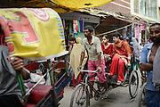 Bicycle Rickshaw in Chandni Chowk, Old Delhi, India 2013