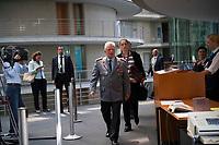 DEU, Deutschland, Germany, Berlin, 05.09.2017: Der Generalinspekteur der Bundeswehr, Volker Wieker, trifft zu einer Sitzung des Verteidigungsauschusses im Deutschen Bundestag ein.