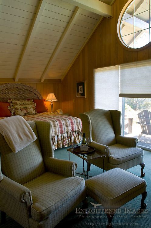 Guest Rooms at the Albion River Inn, Albion, Mendocino County, California