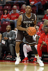 27 November 2015: Godson Eneogwe. Illinois State Redbirds host the Quincy Hawks at Redbird Arena in Normal Illinois (Photo by Alan Look)