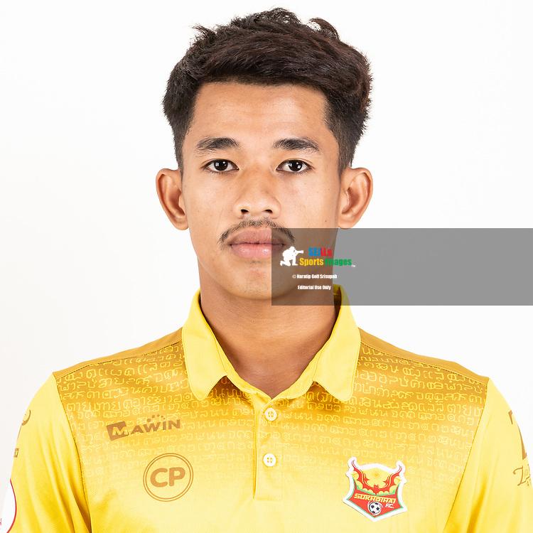 THAILAND - JUNE 29: Thanawat Lekthong #21 of Sukhothai FC on June 29, 2019.<br /> .<br /> .<br /> .<br /> (Photo by: Naratip Golf Srisupab/SEALs Sports Images/MB Media Solutions)