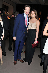 JAMES OGILVY son of HRH Princess Alexandra and his daughter FLORA OGILVY at the Asprey BAFTA Party held at Asprey, 167 New Bond Street, London on 11th February 2012.