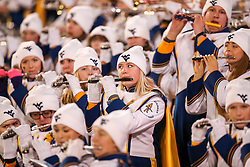 Nov 23, 2018; Morgantown, WV, USA; West Virginia Mountaineers band members perform during the third quarter against the Oklahoma Sooners at Mountaineer Field at Milan Puskar Stadium. Mandatory Credit: Ben Queen-USA TODAY Sports