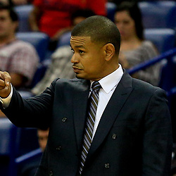 Nov 4, 2016; New Orleans, LA, USA; Phoenix Suns head coach Earl Watson against the New Orleans Pelicans during the first quarter of a game at the Smoothie King Center. Mandatory Credit: Derick E. Hingle-USA TODAY Sports